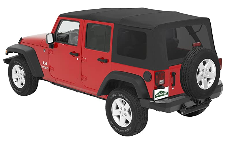 Pavement Ends by Bestop 51204-35 Black Diamond Replay Replacement Soft Top Tinted Windows; No Door Skins Included for 2010-2018 Jeep Wrangler Unlimited bp061272945