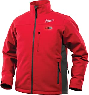 Milwaukee Jacket M12 12V Lithium-Ion Heated Front and Back Heat Zones All Sizes and Colors - Battery Not Included (Medium, Red)