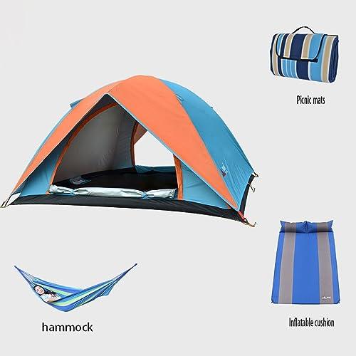 Tente extérieure costume de camping 3-4 familles qui voyagent en voiture de camping tente pluie double