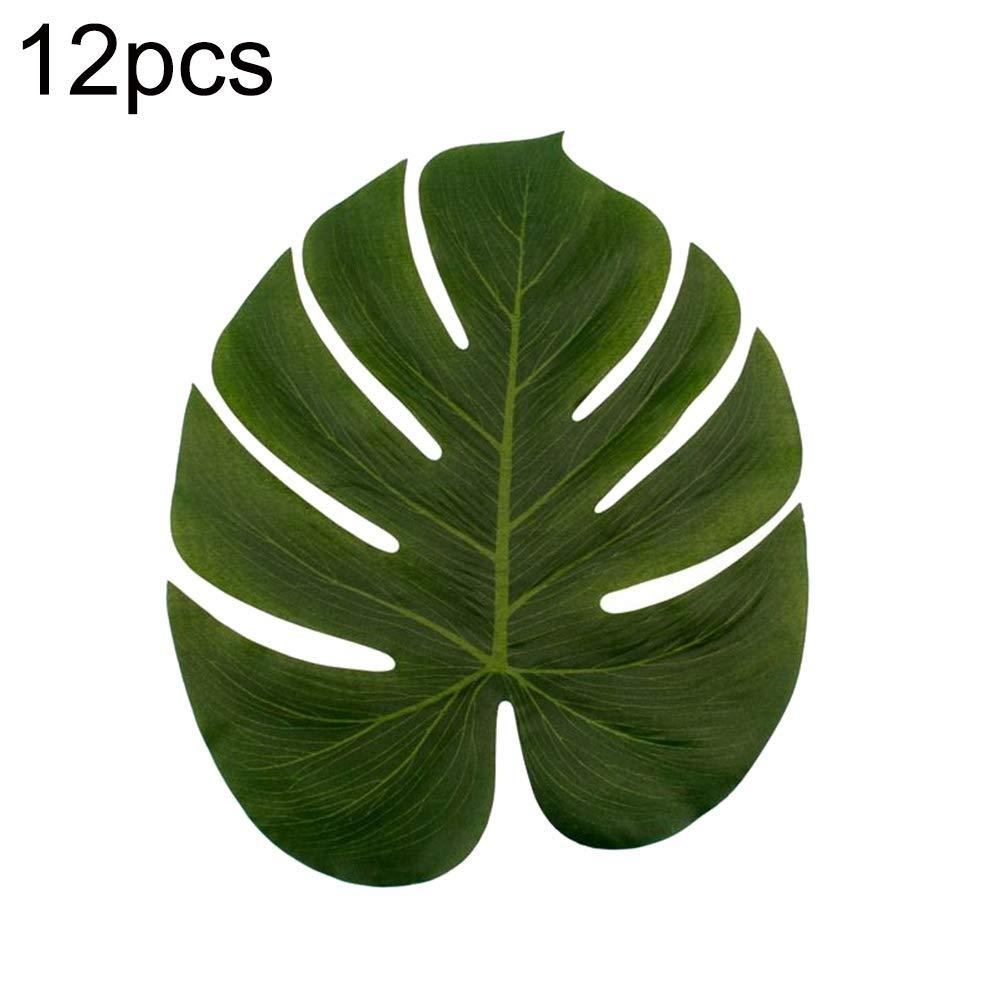 80 cm environ 3 x Handmade Soie Artificielle ROUGE PALMIER en forme de Décoration Herbe
