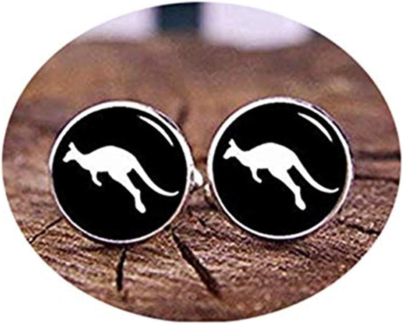 Death Devil Art Picture Cuff Links,Kangaroo Cufflinks, Custom Cufflinks, Australian Jewelry, Australian Kangaroo Cuff Links, Australian Gifts, Custom Any Photo Or Text, Gifts,Gift of Love