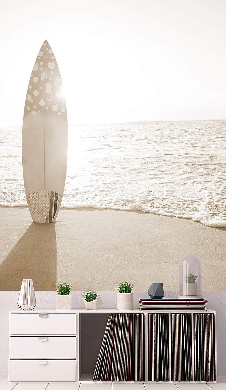 Bilderdepot24 Vlies Fototapete - Surfboard am Strand - sephia - Sepia - 150x200 cm - mit Kleister – Poster – Foto auf Tapete – Wandbild – Wandtapete – Vliestapete B07P7MTBCZ