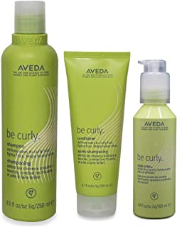 Aveda Be Curly Shampoo 8.5 Oz, Conditioner 6.7 Oz & Be Curly Style-Prep 3.4 Oz
