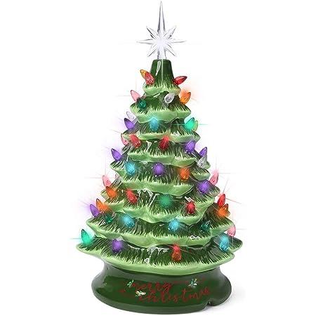 Vintage Bulb Tabletop Christmas Tree