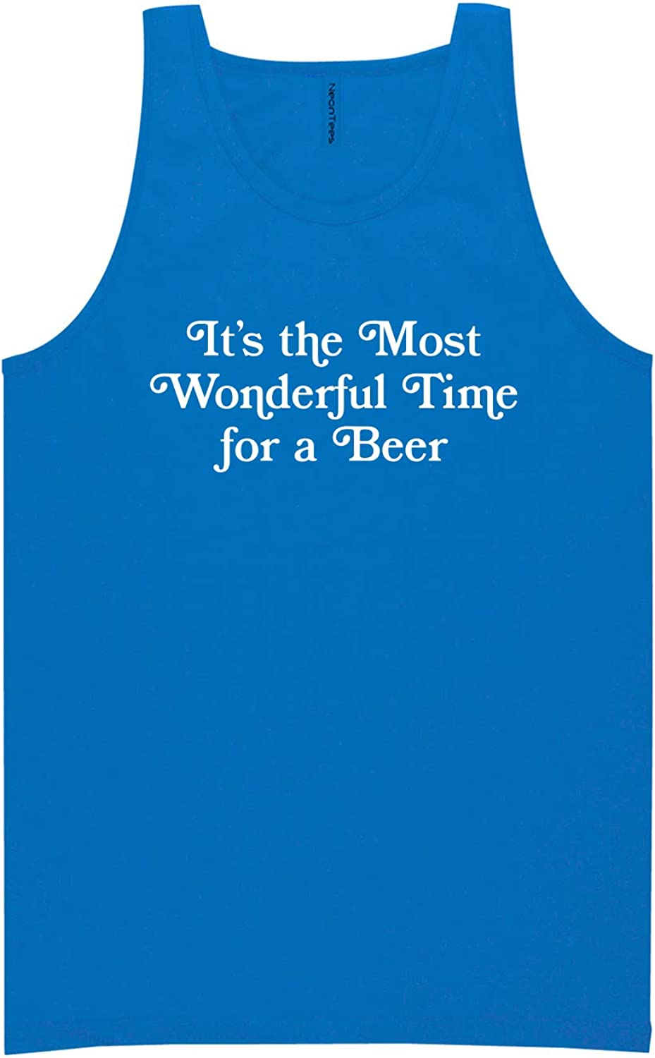 It's The Most Wonderful Time Neon Blue Tank Top - XX-Large