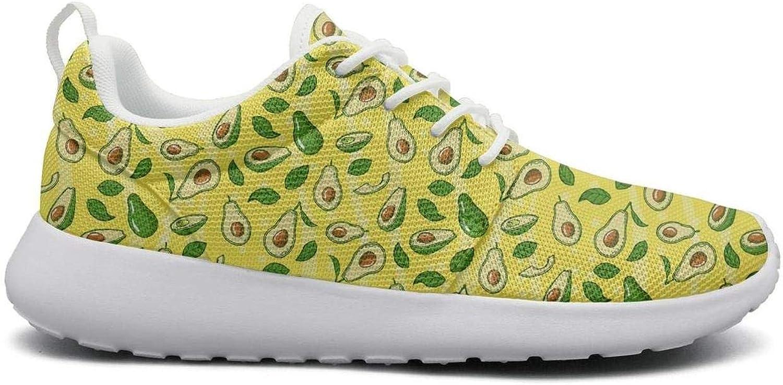 Opr7 Yellow Avocado Running shoes Lightweight for Women Sneaker Walking Comfort