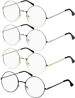 KUDICO Unisex Brille Ohne Sehst/ärke Brillengestelle Brillenfassung Retro Fake Brille Ohne St/ärke Anti Blaulicht Eyewear