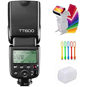 Godox TT600 Camera Flash Speedlite Master Slave Off GN60 Built-in 2.4G Wireless X System Transmission Compatible for Canon, Nikon, Pentax, Olympus, Fuji and Other DSLR Camera with Standard Hotshoe