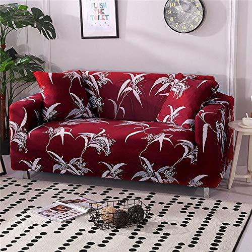 WXQY Funda de sofá elástica para Sala de Estar Moderna Funda de sofá de Esquina Modular Funda de sofá Funda de protección para Silla Funda de sofá A19 4 plazas