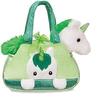 Aurora Fancy Pals, Irish Unicorn Soft Toy in A Handbag, 61231, White and Green, 8in, Gift Idea