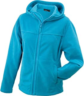 James and Nicholson Womens/Ladies Microfleece Hooded Jacket