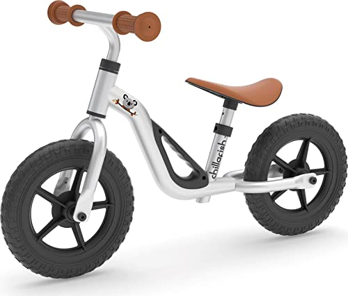 "Chillafish Charlie Lightweight Toddler Balance Bike, Cute Balance Trainer for 18-48 Months, Learn to Bike with 10"" in..."