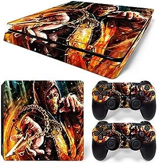 GoldenDeal PS4 Slim Console and DualShock 4 Controller Skin Set - Mortal Fight - PlayStation 4 Slim Vinyl