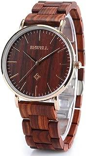 Wooden Watches for Men/Women Slim Analog Quartz Minimalist Couple Wrist Watch W163A