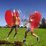 Holleyweb Inflatable 4' Wearable Buddy Bumper Zorb Balls Heavy Duty Durable PVC Viny Bubble Soccer Outdoor Game (Only one,Red)