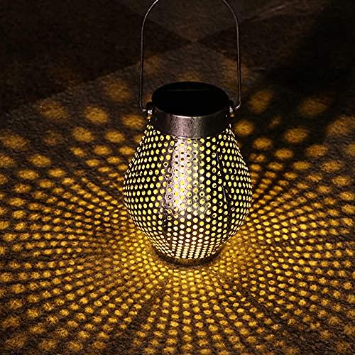 Linternas Solares Para Colgar Al Aire Libre, Luces Solares Colgantes Lámpara Solar Decorativa De Metal Retro Impermeable Con Asa Para Jardín, Porche De Patio Y Mesa, Plateado