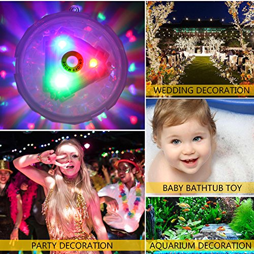 Coquimbo Swimming Pool Light, Battery Operated Baby Bath Hot Tub Lights Pool Accessories with 7 Modes LED Floating Pool Lights for Disco Pool Party Fountain or Pond Decorations