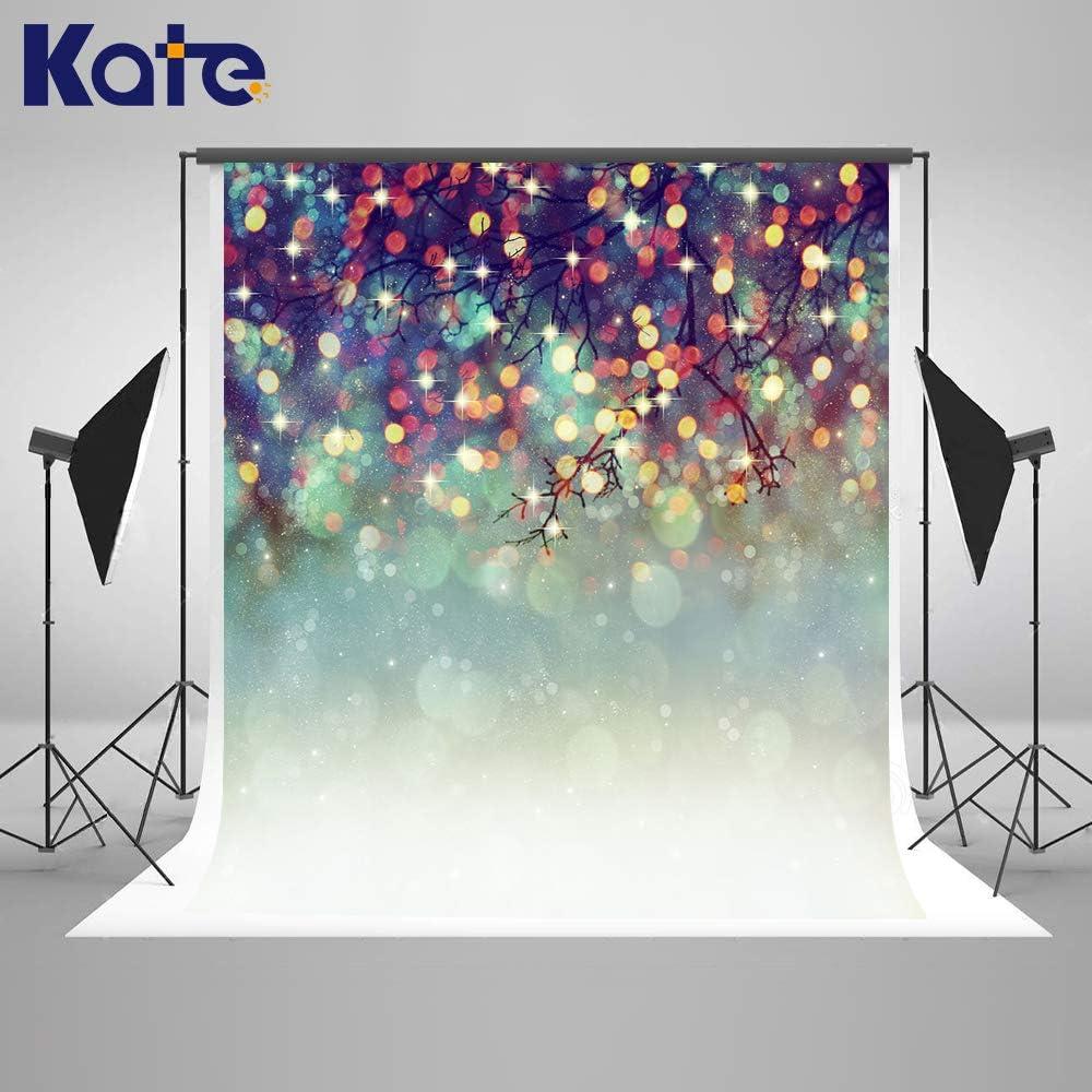 Kate 6.5x10ft Christmas Backdrop Bokeh Christmas Photo Background Glitter Xmas Studio Photography Backdrop