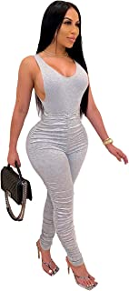Kafiloe 2 Piece Workout Set for Women Sleeveless Top Stacked Leggings Sports Outfits Sweatsuits Tracksuits