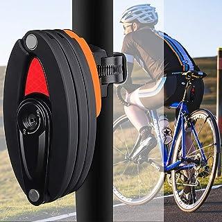 AUTOWT Candados de Bicicleta, Cerradura Plegable con Soporte