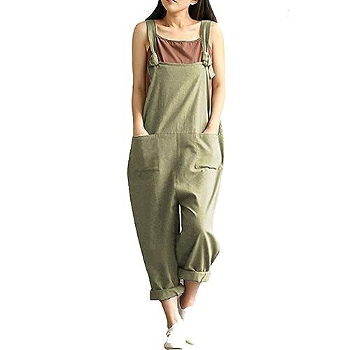 b3f9d21fa35 Women s Casual Jumpsuits Overalls Baggy Bib Pants Plus Size Wide Leg Rompers