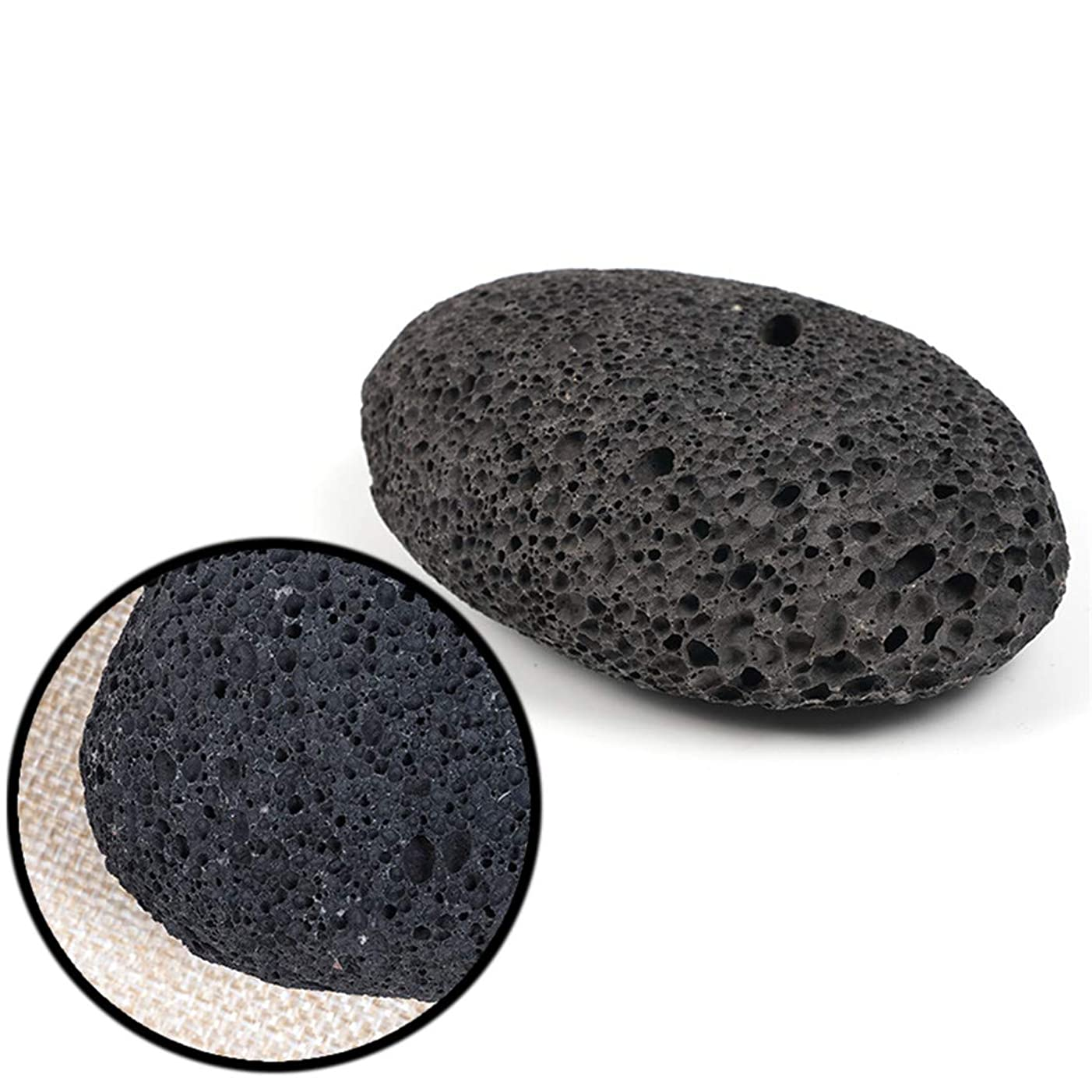 かんたんなす記念天然溶岩軽石火山岩石スクラブデッドスキンカルスリムーバーケアフットスキンケアツール