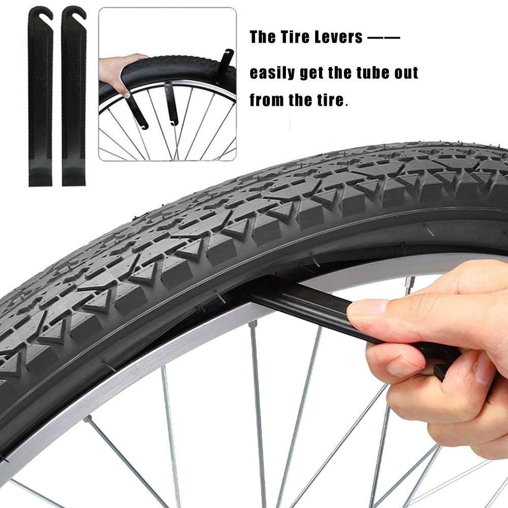 OUTFANDIA Bike Tube with 2 Tire Levers Interior Tire Tube Road MTB Bike Inner Tube Tyres 32mm BMX MTB Bicycle Tires 2pcs 20 Bike Inner Tubes,Fit Width 1.75//1.95//2.10//2.125 Schrader Valve