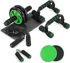 TOMSHOO 5 stuks fitness oefenset dagelijks huis groen, gladde plaat