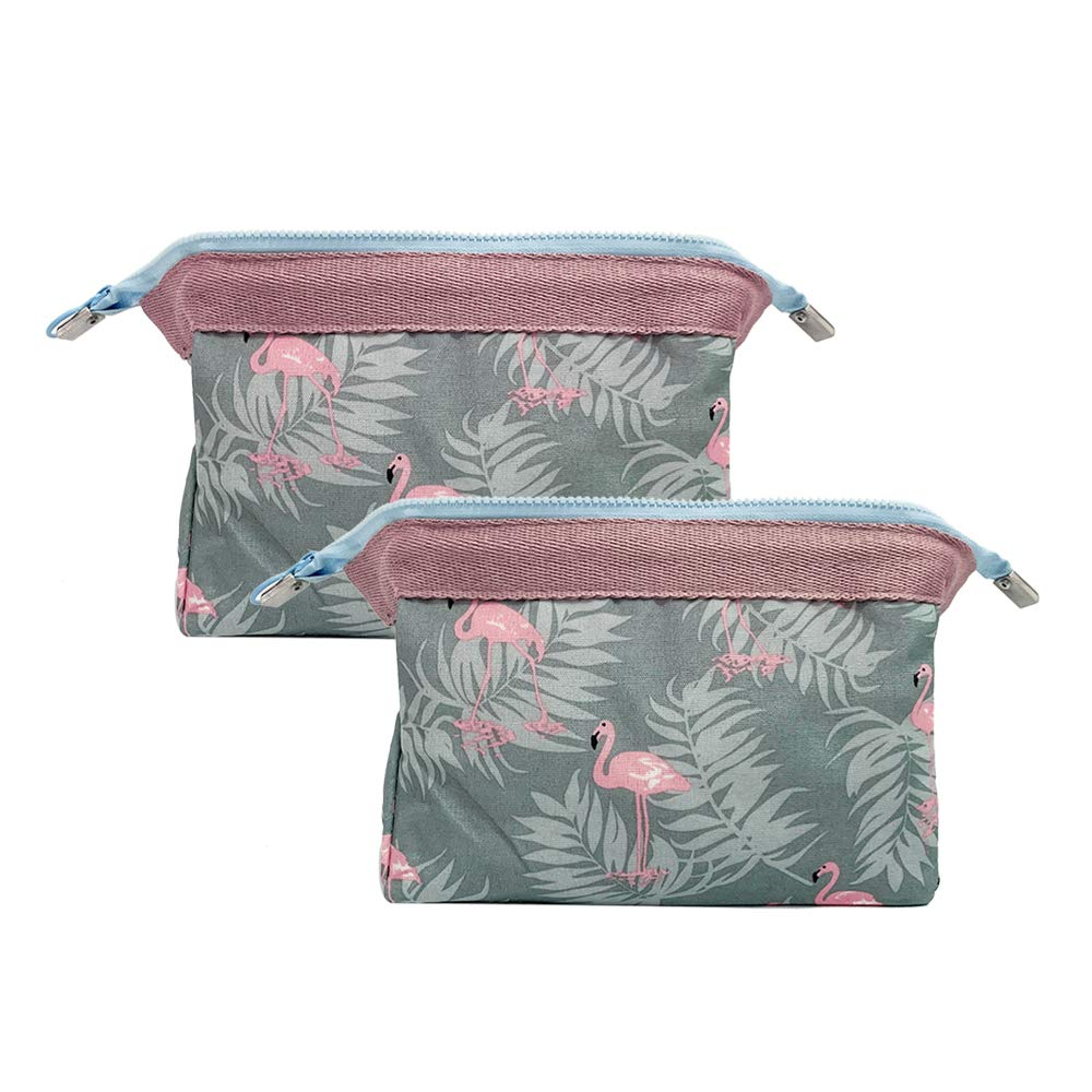 2 Pcs Blue Max 58% OFF Flamingo Cosmetic Bag For Women Purse Pretty Ma Girls Regular store