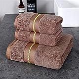 3pcs Playa Toalla de Felpa/Set Toallas Set Bordada for la Ducha del baño del Hotel 100% Toalla de algodón Suave Baño Cara Hot Travel (Color : B, Size : 70x140cm 32x72cmx2)