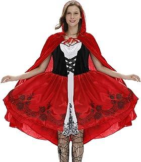 AOGOTO-Jupe Robe Halloween - Conjunto de Disfraz para Mujer de Moda Sexy y pequeño, Color Rojo