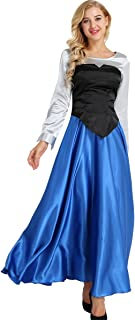 Women's Adult 3 Pieces Mermaid Cosplay Costume Set Princess Dress