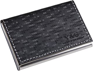 Y&G Men's Fashion Minimalist Leather PU Business Credit ID Card Holder with Magnetic
