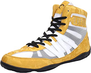 Men's Boxing Shoes Indoor Wrestling Fighting Trainers Breathable Anti-Skid Teens Gym Squat Sneakers