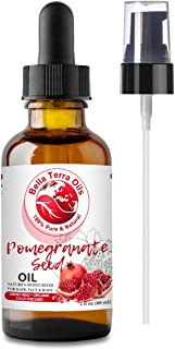 NEW Pomegranate Seed Oil. 2oz. Cold-pressed. Unrefined. Organic. 100% Pure. Rich in Antioxidants. Hexane-free. Rejuvenates...