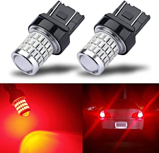 iBrightstar Newest 9-30V Super Bright Low Power 7440 7443 T20 LED Bulbs with Projector replacement for Tail Brake Lights T...