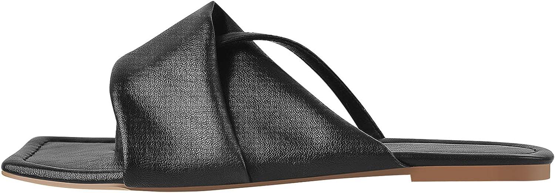 LISHAN Women's Flip Flop Slip On Flat Sandals