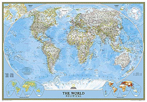 Classic Weltkarte, politisch, Grossformat: 1:24000000: Wall Maps World (National Geographic Reference Map)
