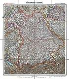Historische Karte: KÖNIGREICH BAYERN - um 1900 [gerollt]: Carl Flemmings Generalkarte, No. 16.