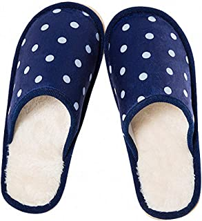 Womens Slippers 5 Color Winter Warm Flock Women Indoor Slipper Polka Dot Home Outdoor Student Girl Lady Shoes Xwt992
