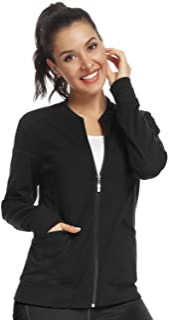 JEYONG Women's Zip Front Warm-Up Jacket