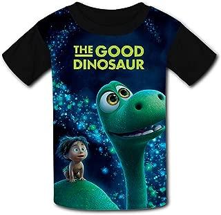 QIANBAIHUI Kids Youth The-Good-Dinosaur 3D Printed Crew Neck T-Shirt Tees