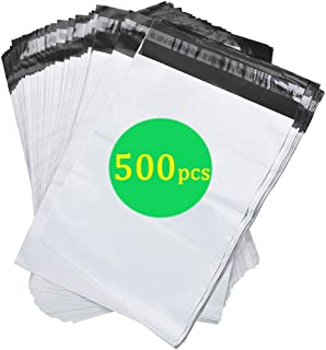 SJPACK 500pcs 14.5x19 Poly Mailers 2.5 Mil Envelopes Shipping Bags with Self Sealing Strip, White Poly Mailers