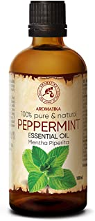 Aceite Esencial de Menta 100ml - Mentha Piperita - India - 100% Puro y Natural - Aceites Esenciales de Menta para Alivio d...