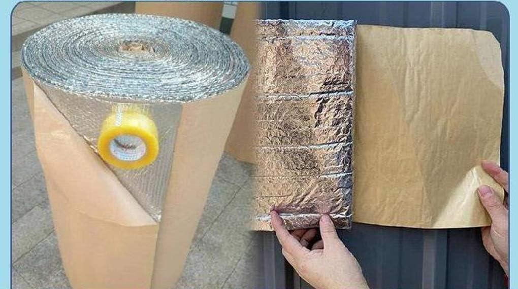 Rollo Aislante T/érmico De Aluminio Autoadhesivo Aislamiento Termico Aluminio Reflexivo Aislamiento T/érmico Multicapa para Fr/ío Y Calor para Techo Pared Y Fachada para Ahorro De Energ/ía En Radiator