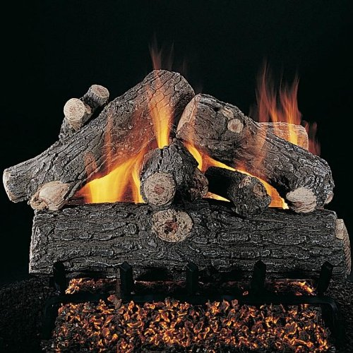 Lowest Prices! Rasmussen 54-Inch Prestige Oak Gas Log Set with Vented Natural Gas LD Multi-Burner - ...