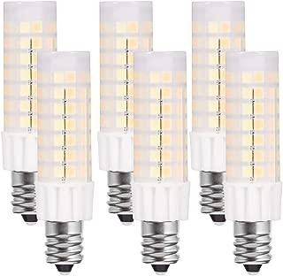 jandcase e12LEDライト電球、調節可能なホワイトライト、2700K/4000K/6000K使用可能、40Wハロゲン相当, 400lm 5W、デイライト、ホワイト/ウォームホワイト燭台電球天井のファン、6パック