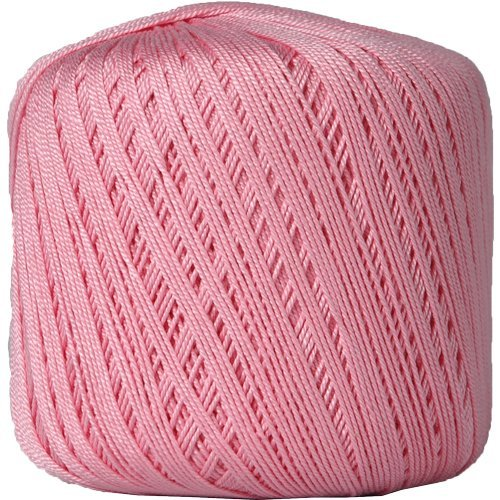 Threadart 100% Pure Cotton Crochet Thread - Size 10 - Color 5 - MAUVE -2 sizes 27 colors available