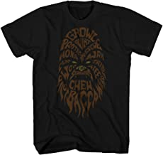 Star Wars Chewbacca Chewie Face Han Solo Movie Word Art Funny Humor Pun Adult Men's Graphic Tee T-Shirt Apparel