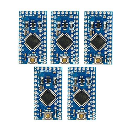 SODIAL(R) 5pc Pro Mini Enhancement ATMEGA328P 16MHz 5V Compatible Arduino PRO Modulo